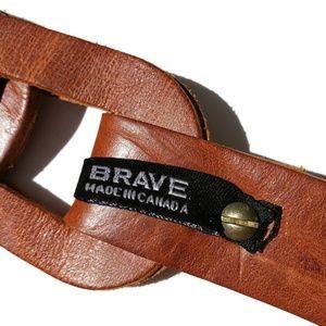 Brave Accessories - $120 MSRP Brave Beltworks Brown Skrunchy Belt EUC